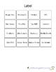 Environmental Print  Restaurant Words File Folder Match Bingo PreK/K/ESE