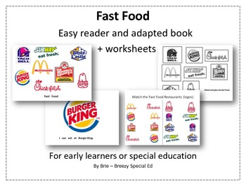 environmental print fast food adapted book amp worksheets