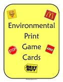 Environmental Print Game Cards