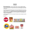 Environmental Print Homework Assignment