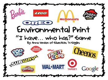 "Environmental Print ""I have... Who has?"" Game"