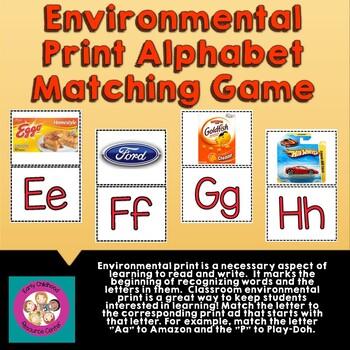 Letter Matching:  Environmental Print