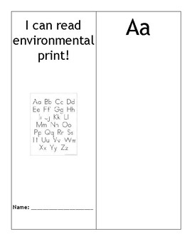 Environmental Print Make a Book