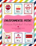 Environmental Print Alphabet Posters- Rainbow Theme