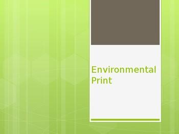 Environmental Print Powerpoint