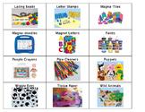 Environmental Print Shelf Labels - Boardmaker & Lakeshore Images