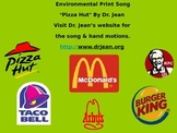"""Environmental Print Song, """"Pizza Hut, Pizza Hut"""" by Dr. Jean"""