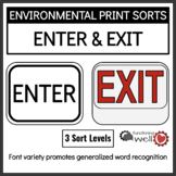Environmental Print Sorts: Enter and Exit