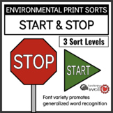 Environmental Print Sorts: Start and Stop Signs