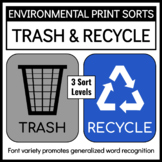 Environmental Print Sorts: Trash and Recycle Signs