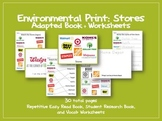 Environmental Print: Store - Adapted Book and Worksheets {Special Ed, Autism}