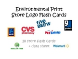 Environmental Print: Store Logo flash cards + data sheet