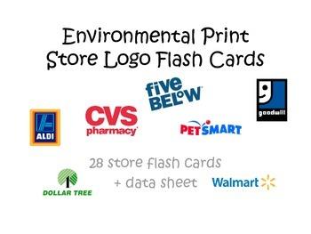 Environmental Print: Store Logo flash cards + data sheet