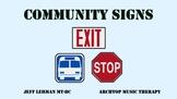 Environmental Print Videos & Songs - Community Signs BUNDLE