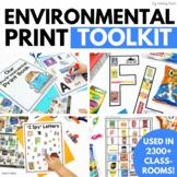 Environmental Print Tool Kit and Printables for Preschool or Kindergarten