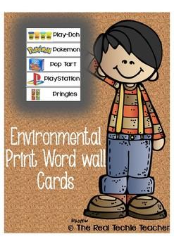 Environmental Print Word Wall Cards
