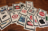 Environmental Print and Community Signs Alphabet Wall Poster Cards