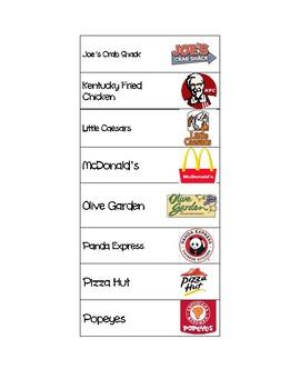 Environmental Print for Food