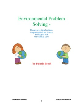 Environmental Problem Solving:Critical Thinking aligned to the Common Core