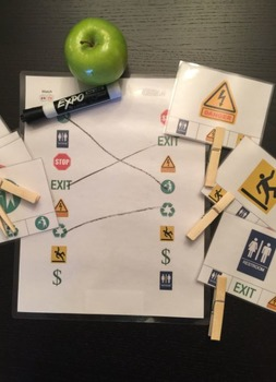 Environmental Reading - Common Signs, Match and Clip Card Activity