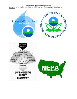 Environmental Regulations Gallery Walk and Flipchart Lesson Plan