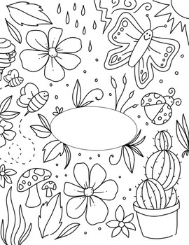 Environmental Science Binder Cover Coloring Page by Art By ...