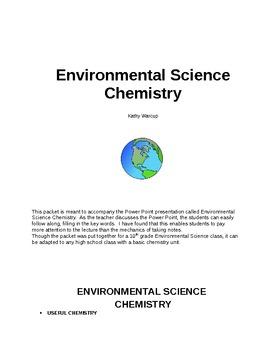Environmental Science Chemistry