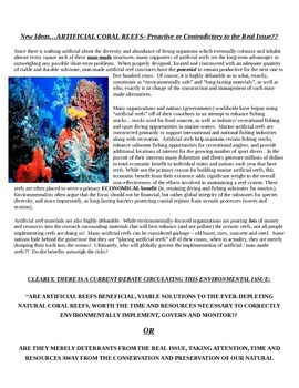 Environmental Science Coral Reefs Project