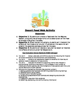 Environmental Science: Creating and Interpreting a Desert Food Web