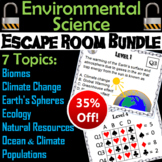 Ecology Escape Room Science: Environment (Biomes, Resources, Populations, etc.)