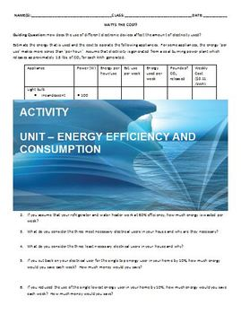 Environmental Science - Estimating Electricity Use