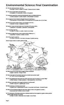 Environmental Science Final Exam