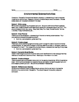 Environmental Science Formative Assessments