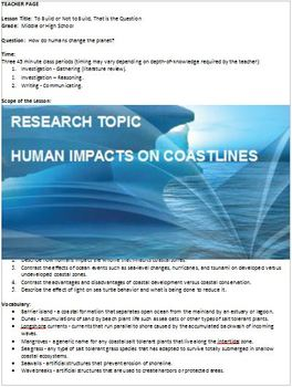 Environmental Science - Human Impacts on Coastlines