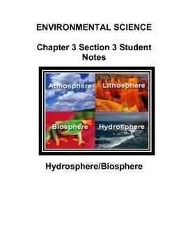 Environmental Science:  Hydrosphere/Biosphere