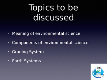 Environmental Science Intro