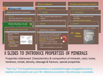Environmental Science Lesson & Activity: Properties of Minerals