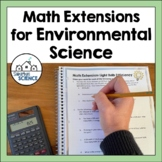 Environmental Science Math Bundle