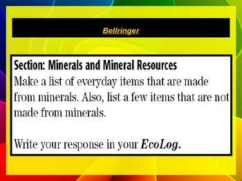 Environmental Science: Minerals and Mineral Resources Ch 16 PPT