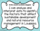 Environmental Science NGSS/Louisiana State Standards I Can Statements
