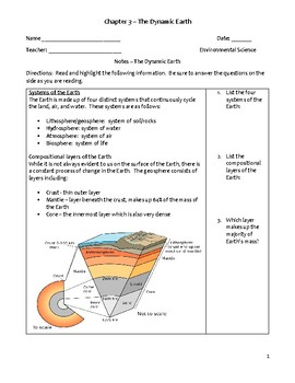 Environmental Science Notes - Dynamic Earth Systems