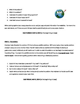 Environmental Science Problem-Solution Project