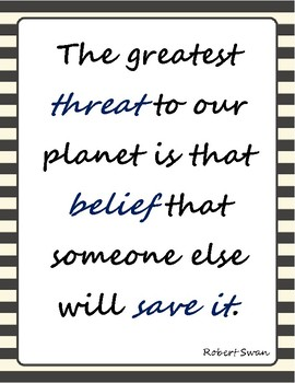 Environmental Science Quote Posters