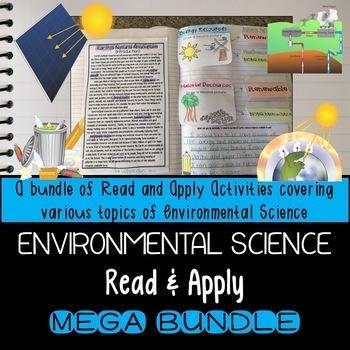 Environmental Science Interactive Notebook Read and Apply MEGA BUNDLE