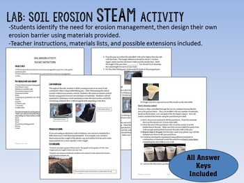 Environmental Science: Soil Erosion & Conservation Lesson & STEAM Lab Activity