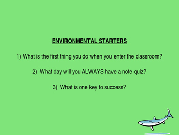 Environmental Science Starter Questions