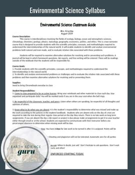 Environmental Science Syllabus & Classroom Guide