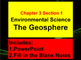Environmental Science The Geosphere CH 3 Section 1