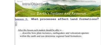 Environmental Science Unit 1 Lesson 3 Plate tectonics