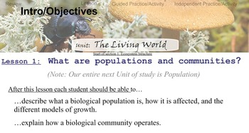 Environmental Science Unit 2 Lesson 1 Populations and Communities